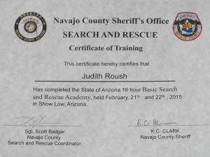 SAR - Sheriff SAR Certificate
